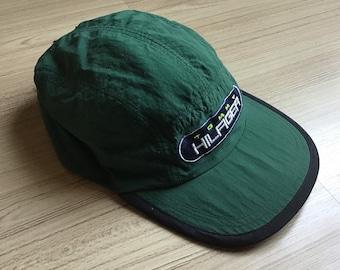 cc704f9df5a4a Vintage 1990 s Tommy Hilfiger Big Logo 5 Panel Cap Hat Rare rap hip hop 90 s