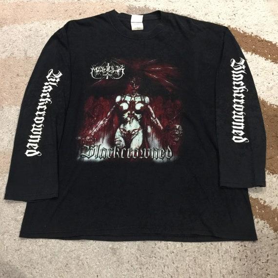 Vintage 90's Marduk Black Crowned Long Sleeve T-Sh