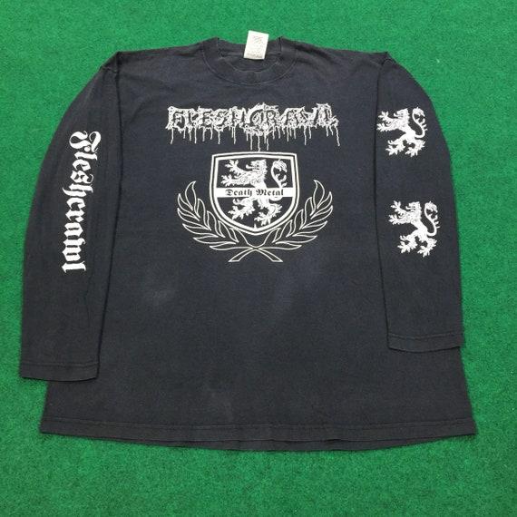 Vintage 90's Flesh Crawl Long Sleeve T-Shirt