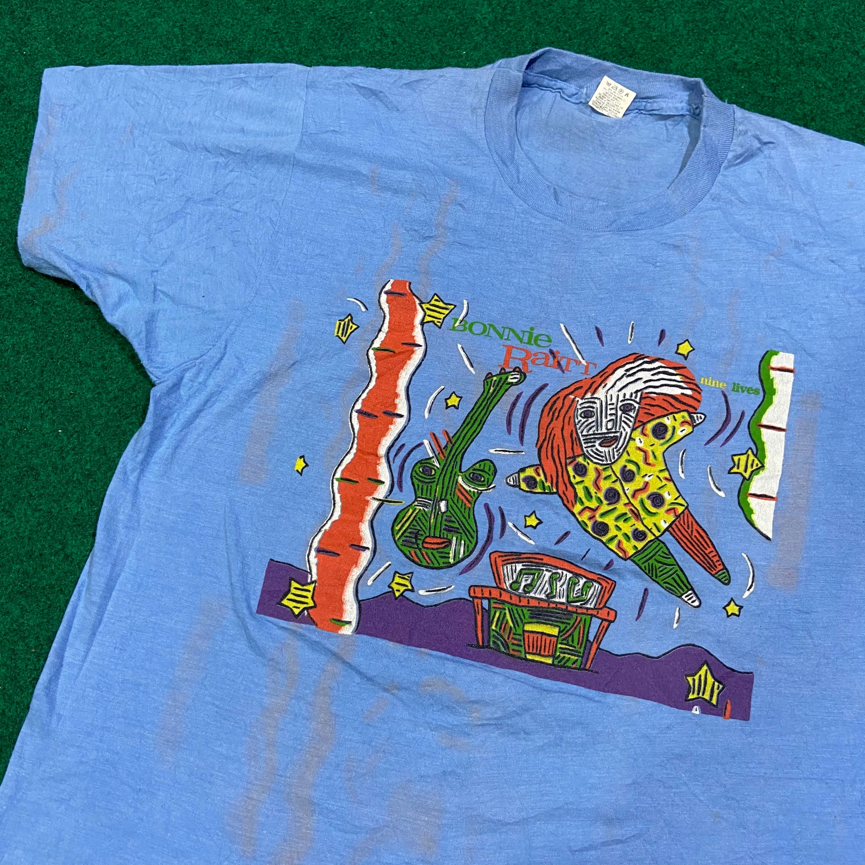 80s Tops, Shirts, T-shirts, Blouse   90s T-shirts Vintage 1980s Bonnie Raitt T-Shirt Rare $116.62 AT vintagedancer.com