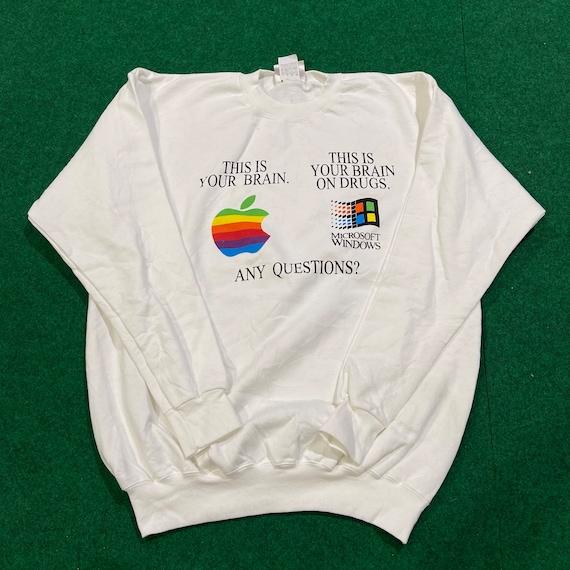 Vintage 90's Apple X Microsoft Windows T-Shirt
