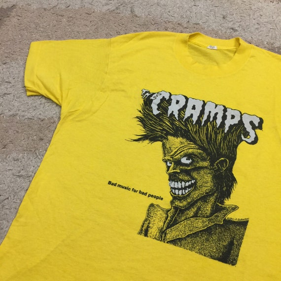 Vintage 80's The Cramps Punk Rock T-Shirt(Very Rar
