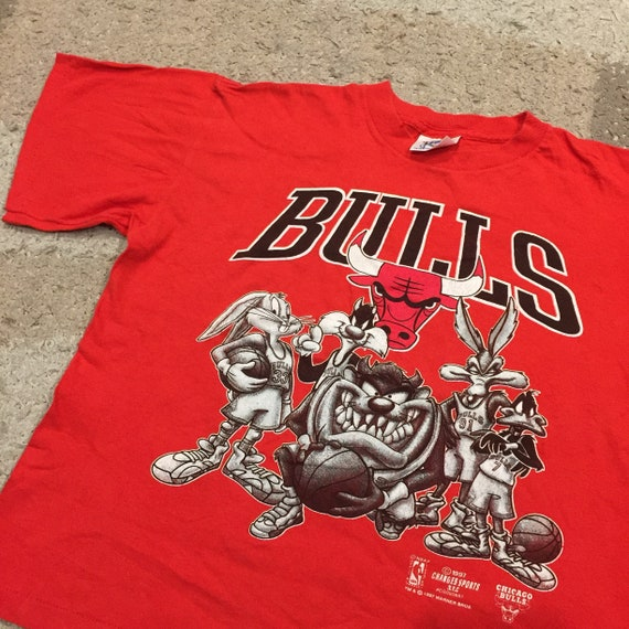 Vintage 1990's Chicago Bulls Looney Tunes T-Shirt