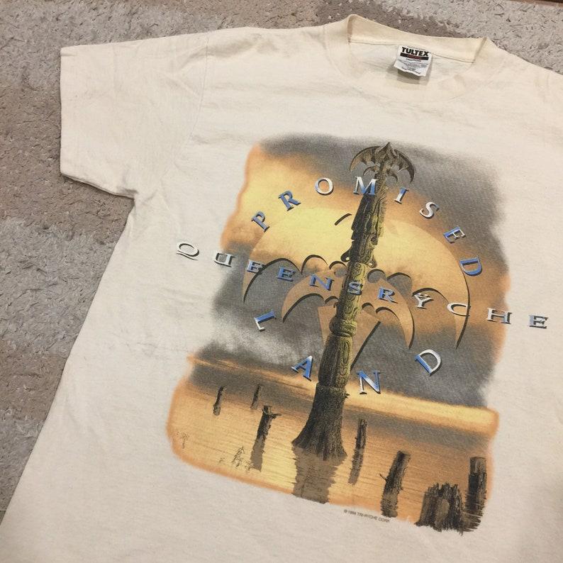 Vintage 1990/'s Queensr\u00ffche Promise Land T-Shirt