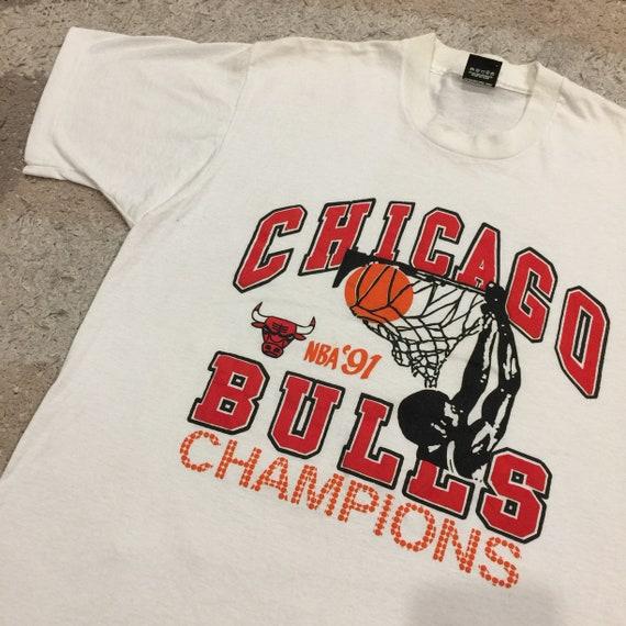 Vintage 1990's Chicago Bulls NBA Champions 1991 T-