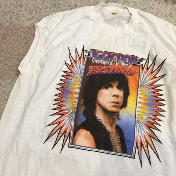 Vintage 80's Iggy Pop Instinct Sleeveless T-Shirt
