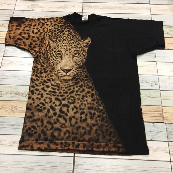 Vintage 90's  Leopard OVP overprint T-Shirt