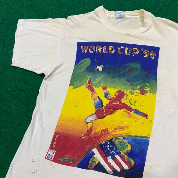 Vintage 1990's Peter Max World Cup  T-Shirt