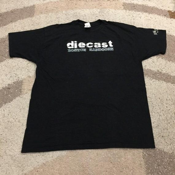 Vintage 90s Die cast Boston Hard Core  T-Shirt