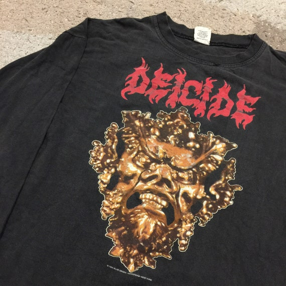 Rare Vintage 90's Deicide (band) Long Sleeve T-Shi