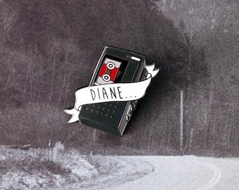 Twin Peaks Lapel Pin, Agent Cooper Pin, Diane Twin Peaks Enamel Pin, Hard Enamel Pin