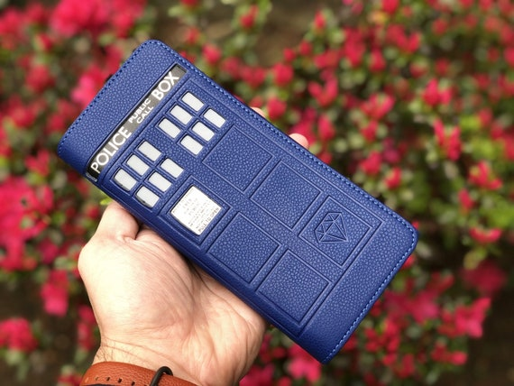 100/% Genuine leather Doctor Who Tardis Bi-Fold RFID