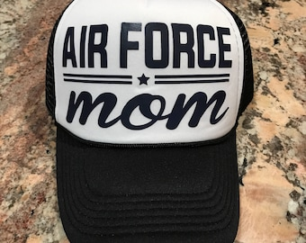 3648adc60ed Air Force Mom custom trucker hat-heat transfer-mom hat-military hat