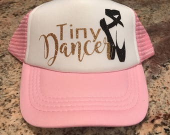 996d8380e1e089 Tiny Dancer Custom Glitter Vinyl Youth Trucker Hat-Kids Trucker Hats-Kids  Hats-Heat Transfer