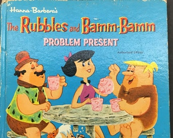 The Rubbles and Bamm-Bamm - Problem Present - a Whitman Children's book - Vintage 1965