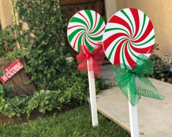 large christmas lollipop yard decorations