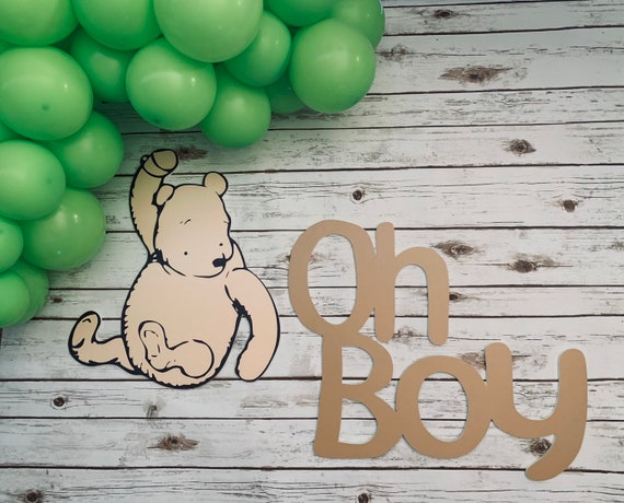 prop Winnie the Pooh backdrop party prop cut out decoration for party backdrop or wall decoration