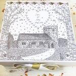 Personalised Wedding Memory Box, Hand Illustrated. Custom Venue, Bespoke. Hand Drawn, Keepsake Box.