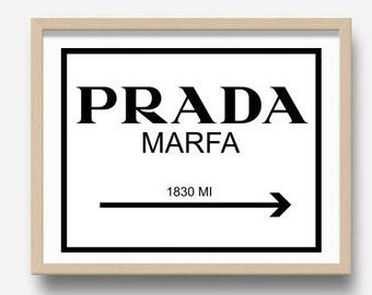 Prada Marfa, Prada Print, Prada Sign, Fashion Print, Printable Art, Home Decor, Digital Download, Wall Art