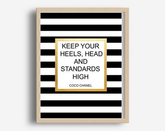f94b2c78c4627 Keep Your Heels Head and Standards High Digital Download   Etsy