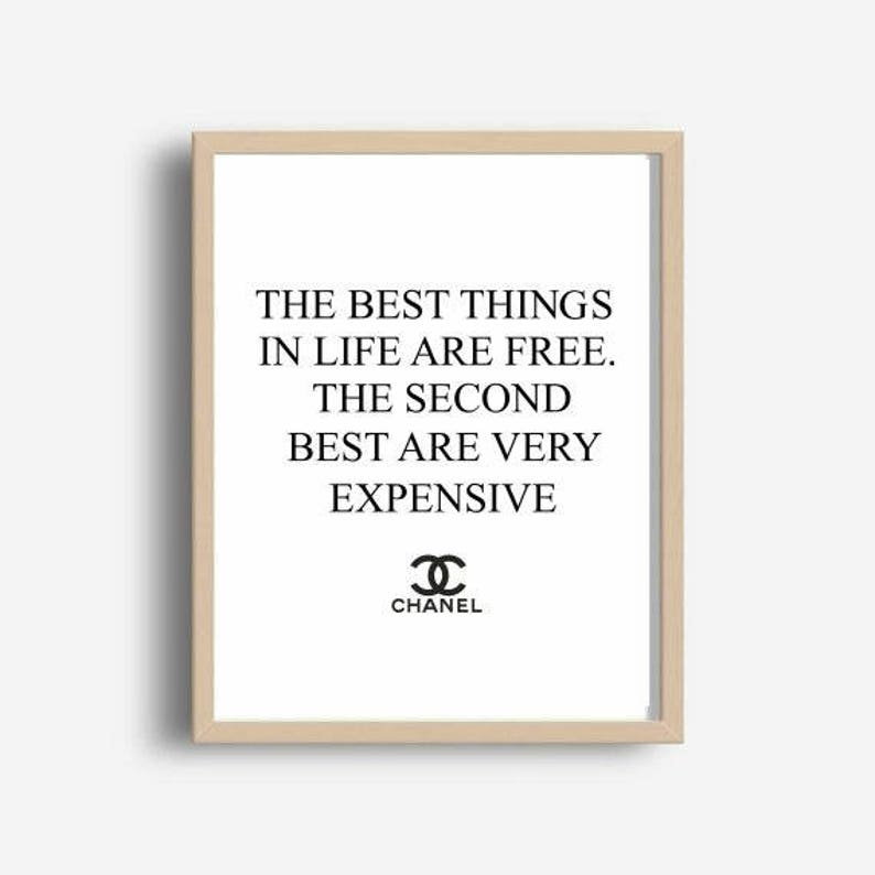 f92909c0574 Chanel Quote Coco Chanel Print The Best things In Life Are