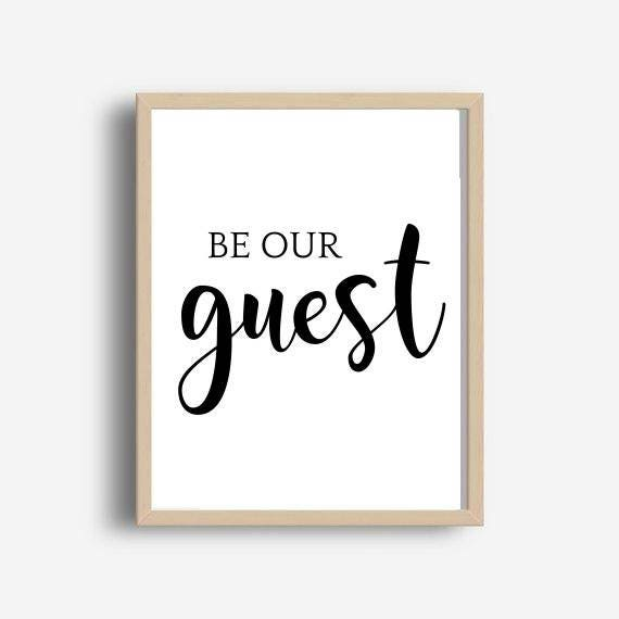 photo about Be Our Guest Printable named Be Our Visitor, Visitor Print, Printable Artwork, Visitor Bed room, Wall Decor, Immediate Obtain