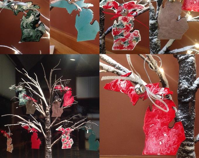 Michigan hanging ornaments
