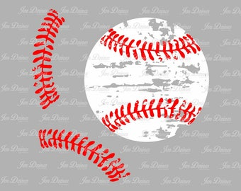 Distressed Baseball stitches SVG DXF EPS, Softball stitch svg, svg cutting file for Cricut Silhouette, Baseball svg design, Softball svg