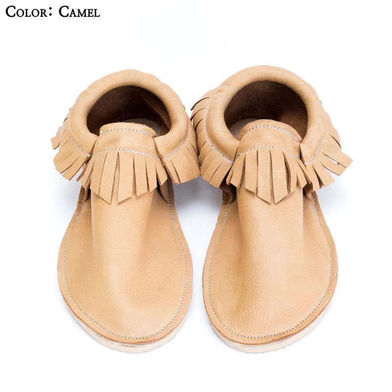 1556b868210 Leather Adult Moccasin - Classic Fringe - For Her - For Mom