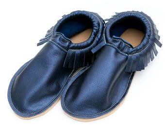 Adult Moccasin, Women's Moccasins, Leather Moccasins, Gifts for Mom, Gifts For Her
