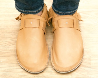 Leather Adult Moccasin - Studded Strap, Mother's Day Gifts