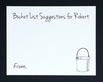 Bucket List Cards Etsy