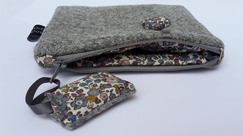 Harris Tweed Grey Purse Liberty Betsy Ann Teacher Gifts for image 0