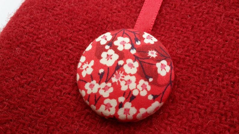 Harris Tweed Red Purse Liberty Mitsi Valeria Purse Wool image 0