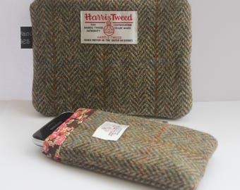 Harris Tweed Cozy, Wool Pouch, Tweed Cases, Phone Cozy, Liberty Pouch, Liberty Cozy, Liberty Cases, Mobile Pouch, Mobile Cover, Phone Cases