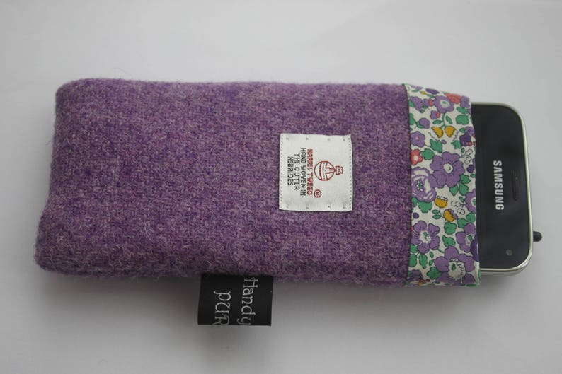 Harris Tweed Purple Phone Case Mobile Cozy Liberty Cozy I image 0