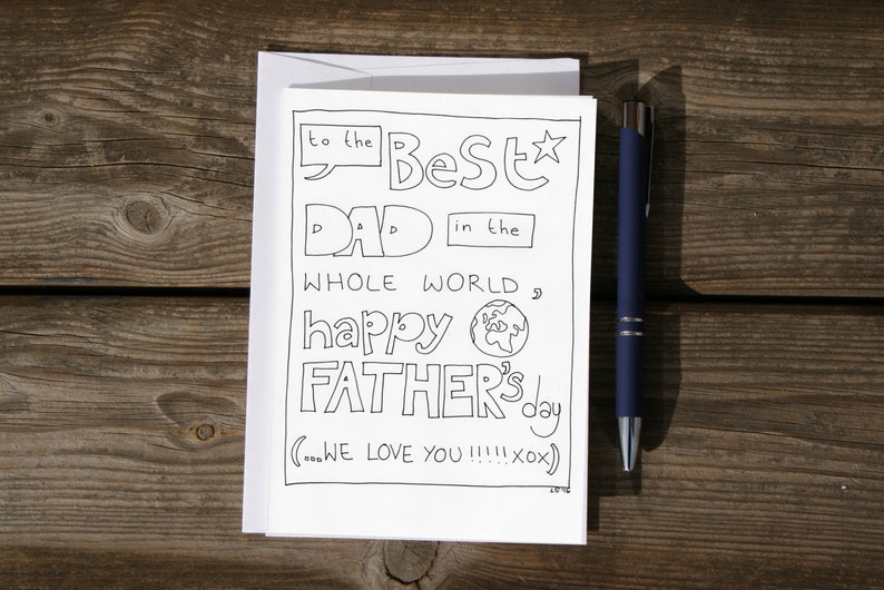 Printable Father's day card to the best dad in the world ...