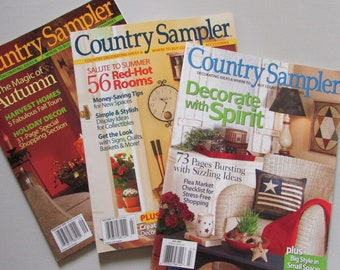 Items similar to 4 Country Sampler Magazines-2000\'s ...