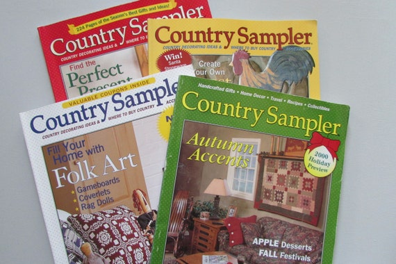 4 Country Sampler Magazines 2000s Primitive Home Decor Ideashome Decor Bookscraft Idea Bookshandmadedecorating Ideascountry Home Decor