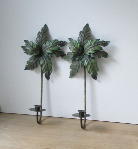 Palm Tree Sconces Wall Sconces Candle Holders Sconce Sets Wall Decor Candle Sconces Tropical Sconce Vintage Sconces Metal Sconces Home Decor