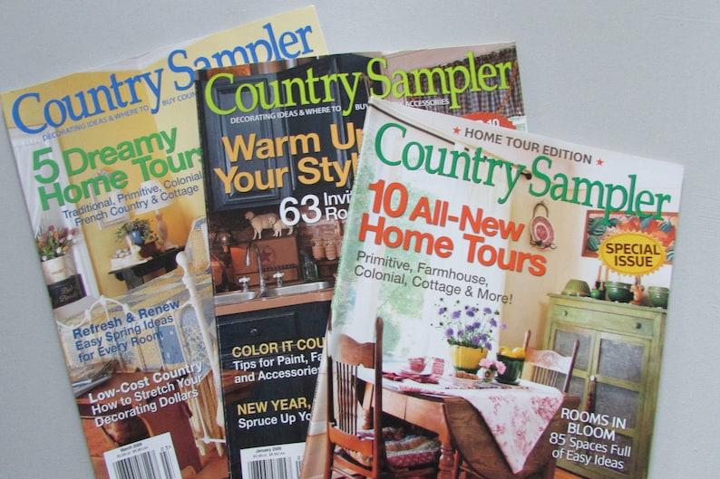Country Sampler Magazines-2009-primitive home decor ideas,Home decor  books,craft idea books,handmade,decorating ideas,country home decor