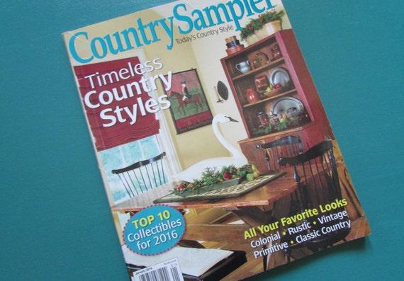 Country Sampler Magazine-2016-primitive home decor ideas,craft  book,handmade,decorating ideas,sewing ideas,country home decor
