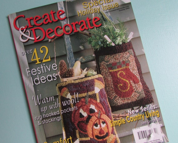Create U0026 Decorate Magazine 2005 Primitive Home Decor | Etsy