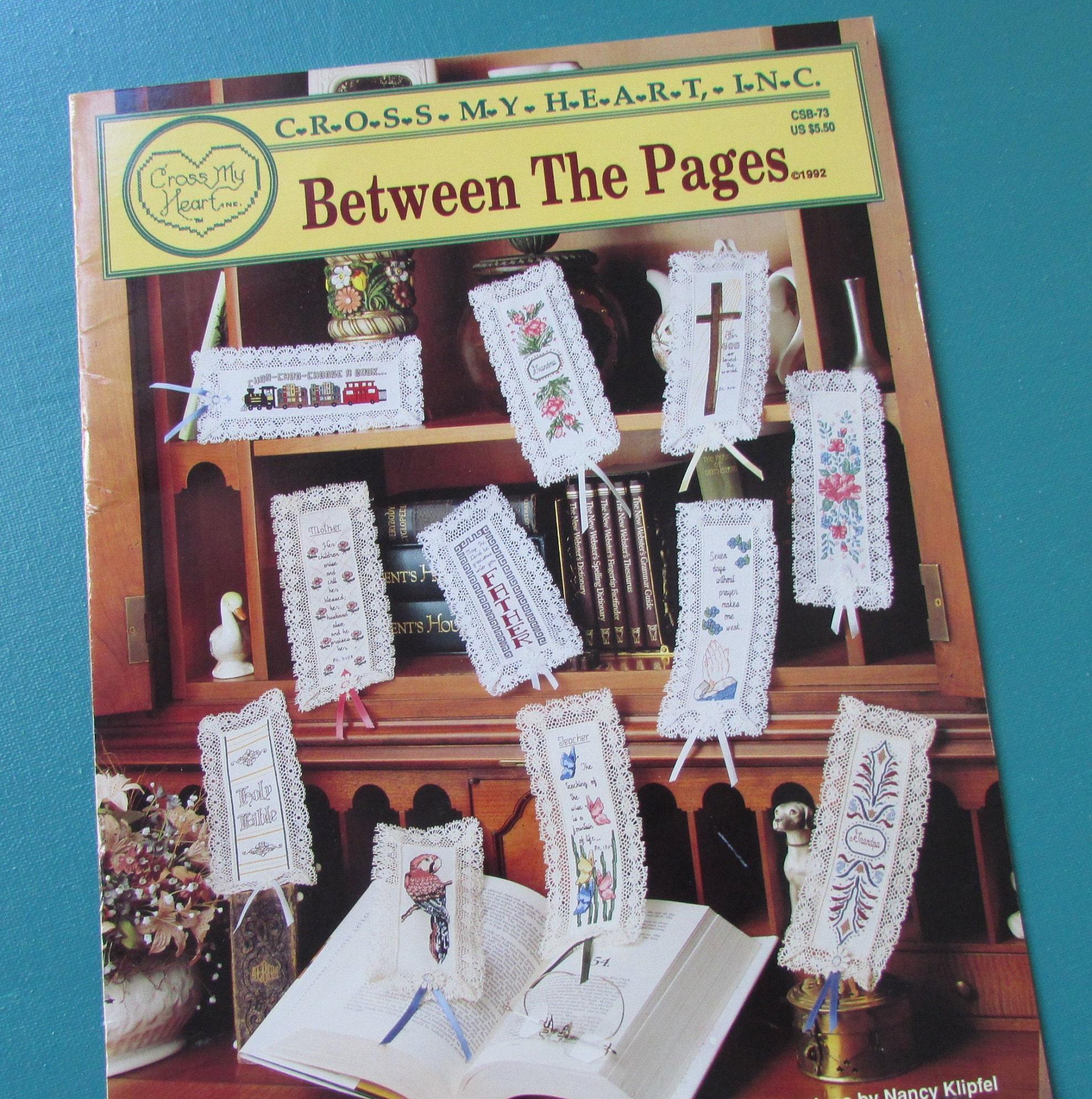 Cross Stitch Bookmarks Leaflet Cross My Heart Books Craft Etsy