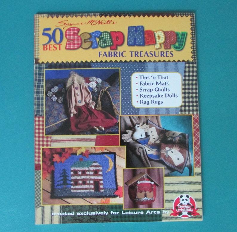 Craft Books 50 Best Scrap Happy Book Fabric Craft Ideas Doll Etsy