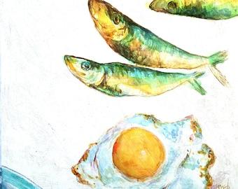 Tuyosilog or Tuyo, Filipino Art Print, customizable, ready to print, watercolor art, digital file download