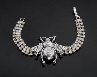 Bee Jewelry | Bee Bracelet | Crystal Bee Bracelet | Bee Keeper Gift | Dawn Santucci | PopSkullpture