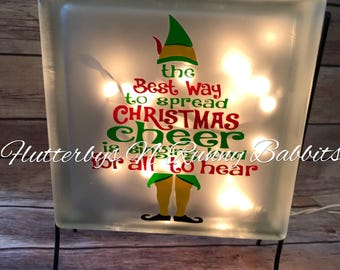 Best way to spread Christmas cheer glass block christmas decorations night light christmas glass block buddy the elf spread christmas cheer