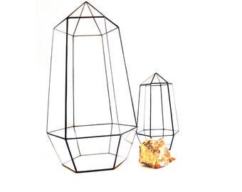 Geometric terrarium Crystal 3 sizes. Wedding table center pieces Decor