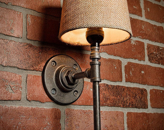 Rustic Light - Lighting - Industrial Light - Steampunk Lighting - Bar Light - Industrial Sconce - Sconce - Wall Light - FREE SHIPPING